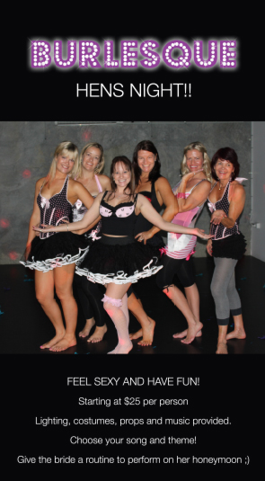 burlesque hens parties